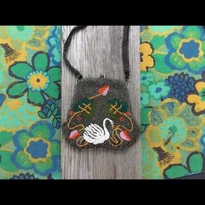 Victorian Beaded Swan Handbag